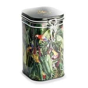 lata de gran capacidad para guardar té