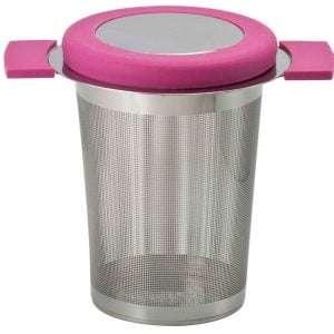 filtro de inox con asa de silicona