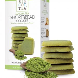Galletas de té matcha shorbread