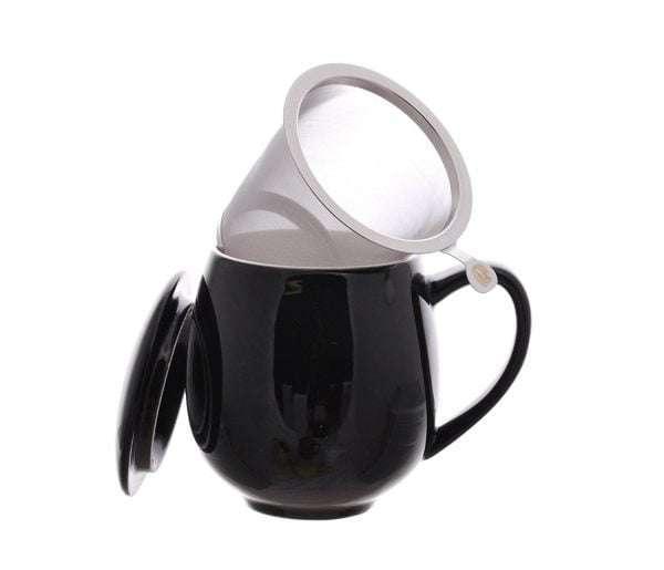 Taza negra con filtro-0