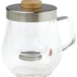 Taza de cristal con filtro inox -0