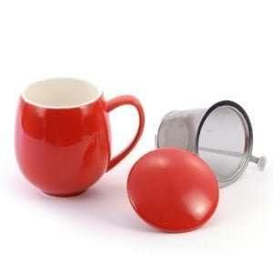 taza con filtro color roja