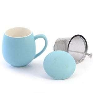 taza con filtro color azul