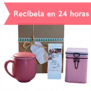 Caja de té Christmas in Pink-0