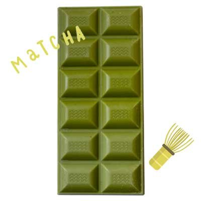Chocolate matcha tableta