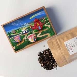 postal de té