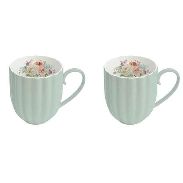Set 2 tazas Vintage Madeleine Turquesa-0