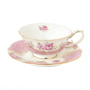Taza con Plato Vintage Tea Cottage-0