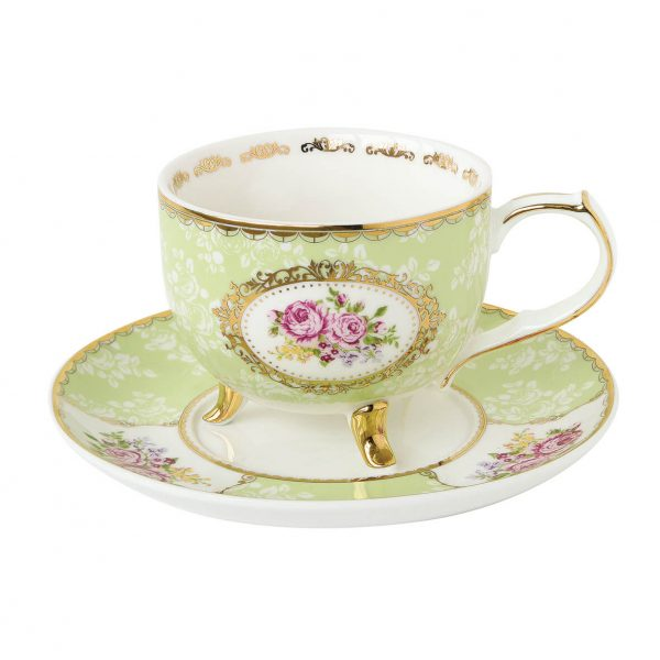 Taza con Plato Vintage Queen Mary-0