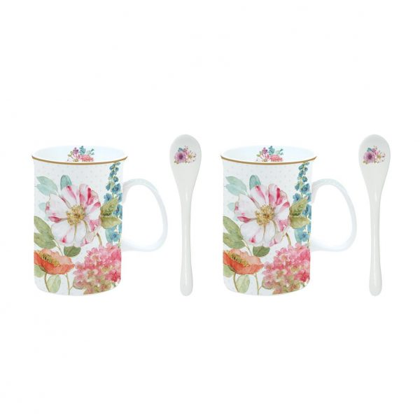 Set 2 tazas Vintage Tea Cottage-0