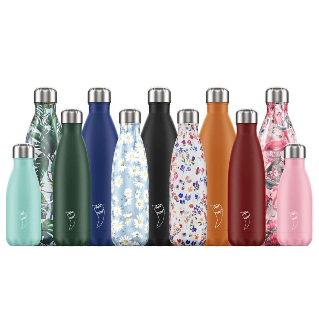 Regalos para amantes del té son las magníficas botellas Chilly