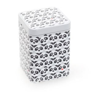 Lata Panda para guardar té capacidad 50 gramos