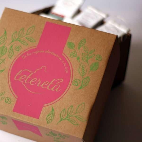 presentación de las cajas de té