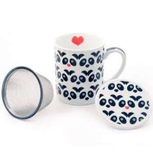 Taza para té colección panda