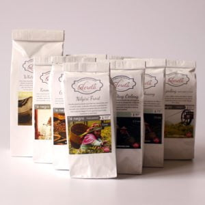 Cesta de tés de origen