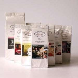Cesta tés aromatizados